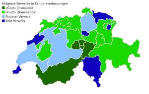 Religiöse Verweise in den Verfassungen der Schweizer Kantone