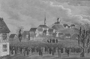 Friedliche Lösung: Ustertag 1830. Bild: Wikipedia