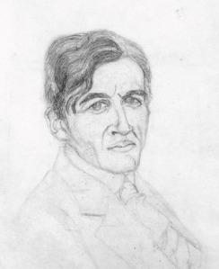 Zaccaria Giacometti. (Zeichnung von Alberto Giacometti, 1915)