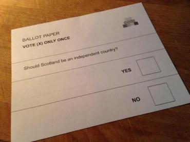 Stimmzettel vom 18. September 2014.