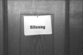 Türe zum Regierungsratssaal Schaffhausen (Foto: Bruno und Eric Bührer, 1998, StadtA SH, Sig. J 10/58842)