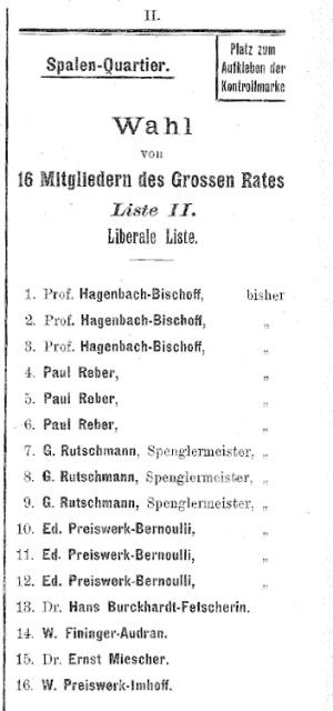 Hagenbach-Bischoff-Liste