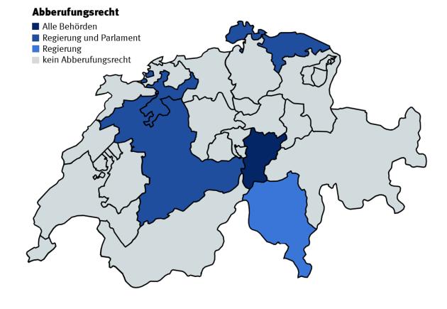 Abberufungsrecht Kantone